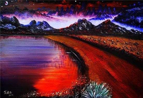 空间之间_生灵和谐――赏析黄建南油画《同一空间》